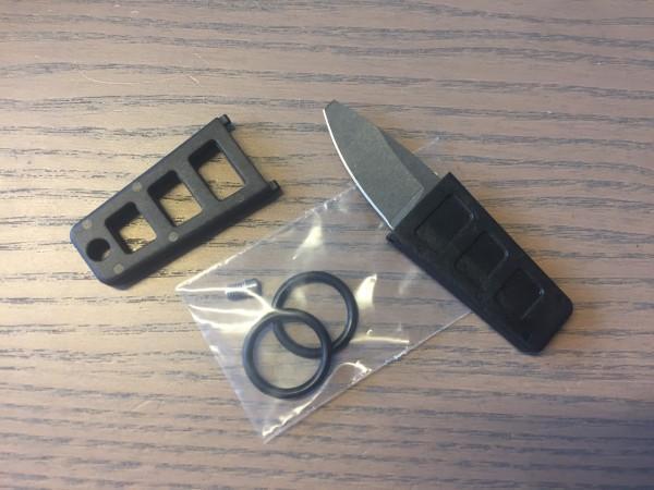 Set beinhaltet: Tekna Xtra Edge schwarz ohne Spitze, 2 O-Ringe, 1 M4-Schaftschraube Edelstahl